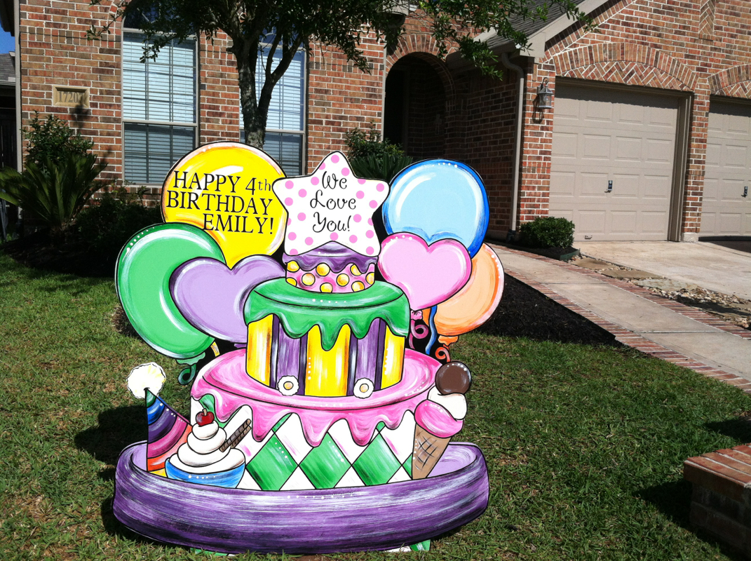 Tomball TX Birthday Sign Lawn Rental